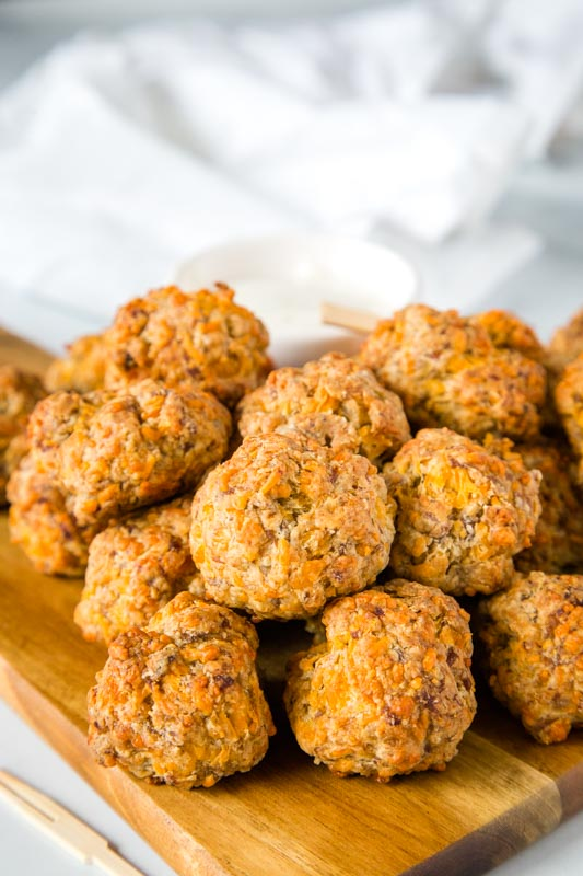 Bisquick sausage cheese balls is a classic appetizer recipe that everyone loves