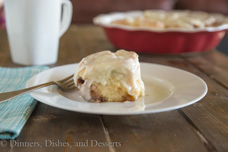 Eggnog Cinnamon Rolls {Dinners, Dishes, and Desserts}