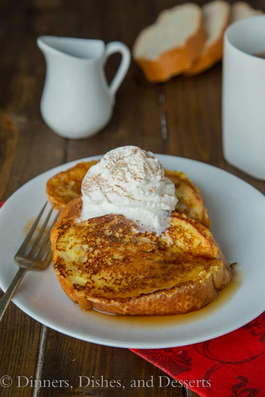 Eggnog French Toast - a great holiday breakfast