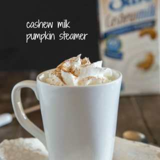hot pumpkin spiced milk in a cup