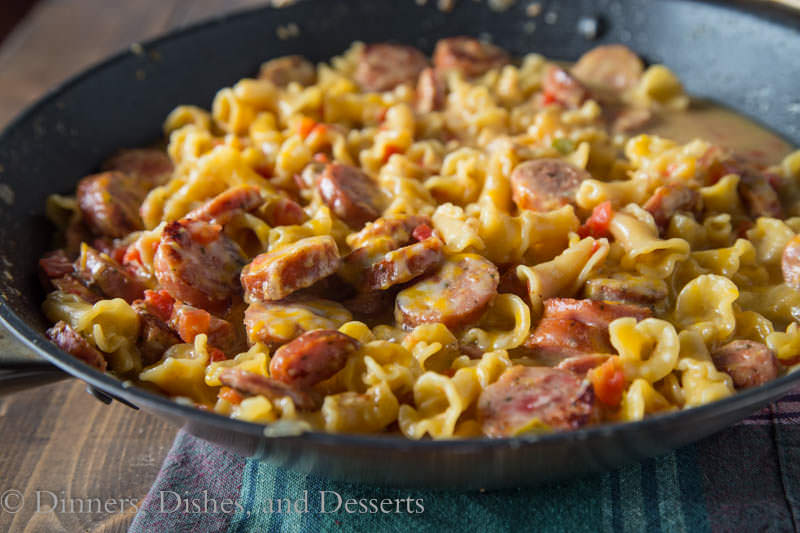Sausage Pasta Skillet {Dinners, Dishes, and Desserts}
