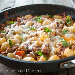 Cheesy Gnocchi Skillet {Dinners, Dishes, and Desserst}