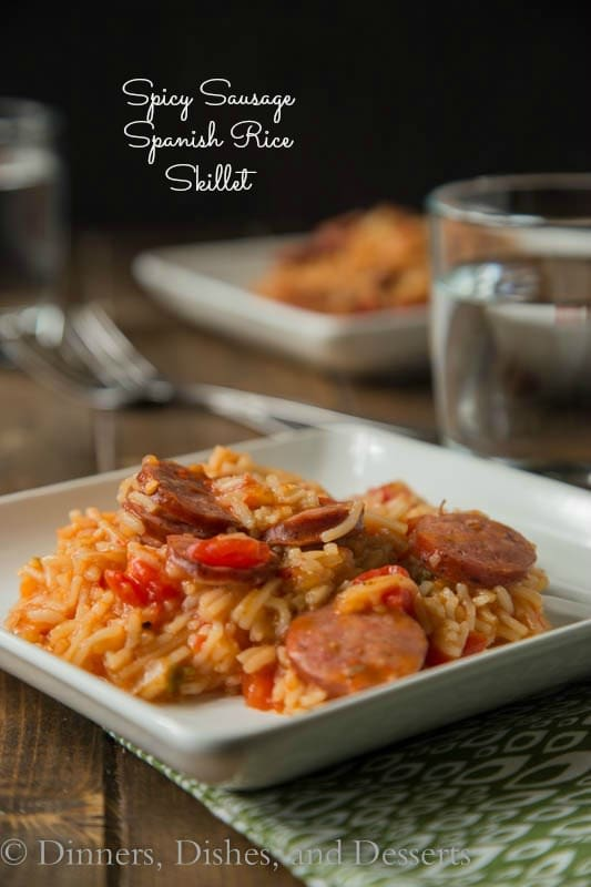 Spicy Sausage and Spanish Rice Skillet