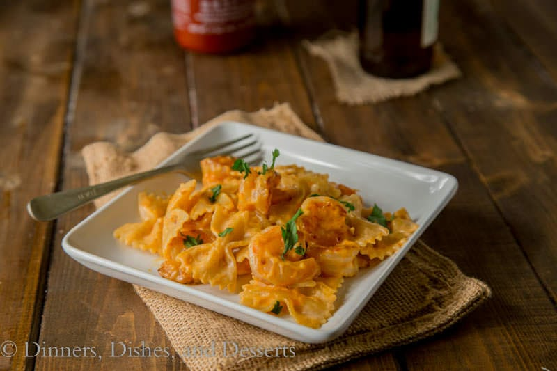 Bang Bang Shrimp Pasta {Dinners, Dishes, and Desserts}