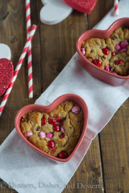 Valentine's Deep Dish Cookies  - Make your Valentine feel special with these Deep Dish Cookies