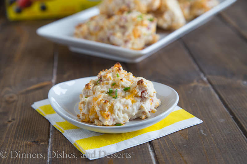 Ham and Cheese Drop Biscuits {Dinners, Dishes, and Desserts}