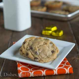 Caramel Stuffed Chocolate Chip Cookies {Dinners, Dishes, and Desserts}