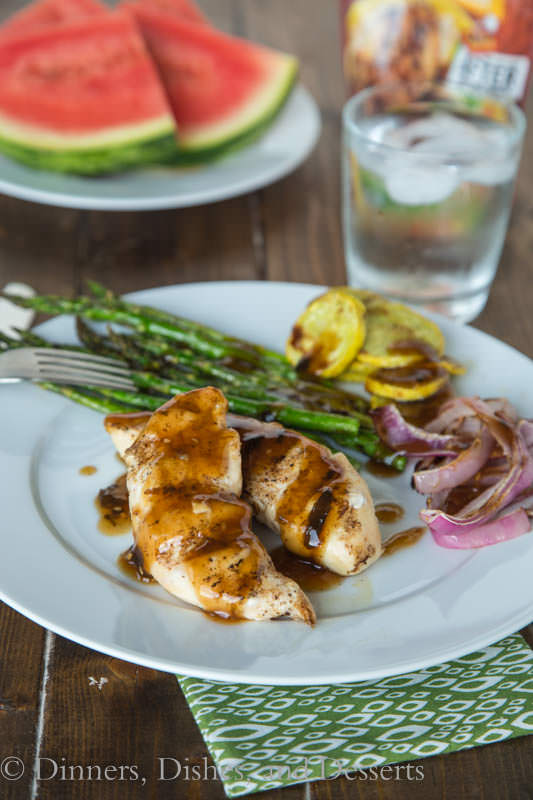 Teriyaki Grilled Chicken - A great chicken dinner any night of the week. Just grill chicken and add the teriyaki sauce to finish!