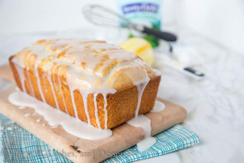 Iced Almond Lemon Loaf Cake {Dinners, Dishes, and Desserts}