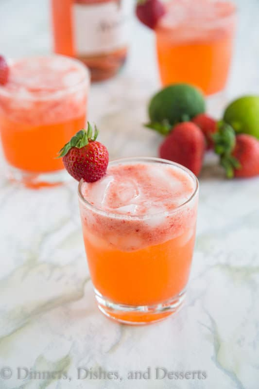 Strawberry Margarita Punch - Your favorite strawberry margarita all dressed up and turned into a fun strawberry punch!