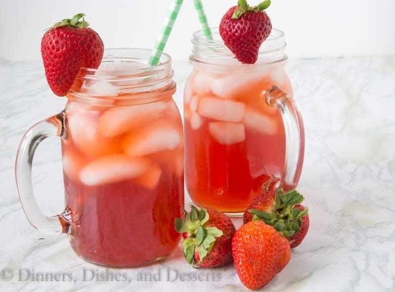 Strawberry Sweet Tea {Dinners, Dishes, and Desserts}