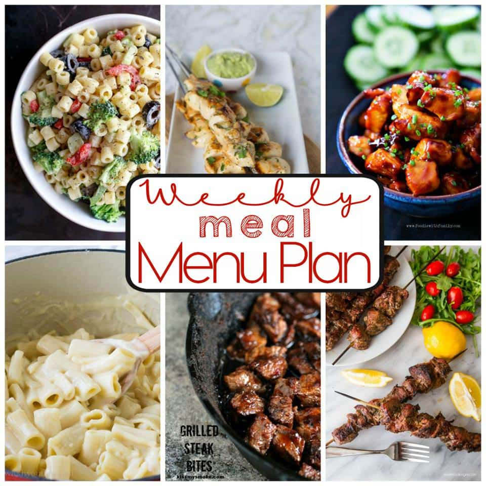Weekly Meal Plan from Top 8 Bloggers