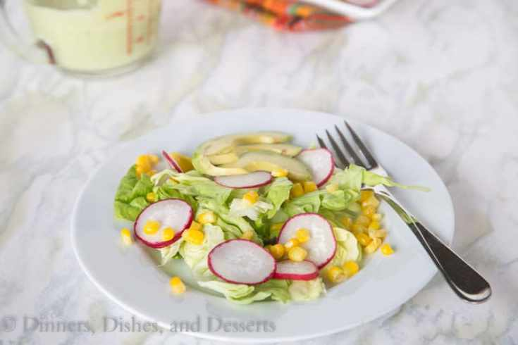 Corn and Radish Salad {Dinners, Dishes, and Desserts}