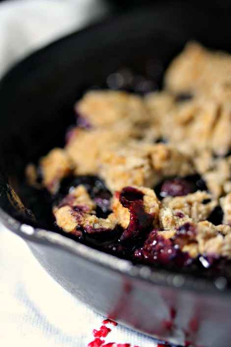 Grilled Blueberry Cobbler {Kiss My Smoke}