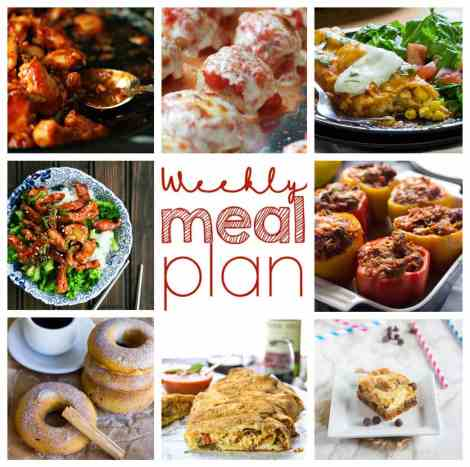 Weekly Meal Plan Week 5 - 8 top bloggers bringing you 6 dinner recipes and 2 desserts to make a quick, easy, and delicious week!