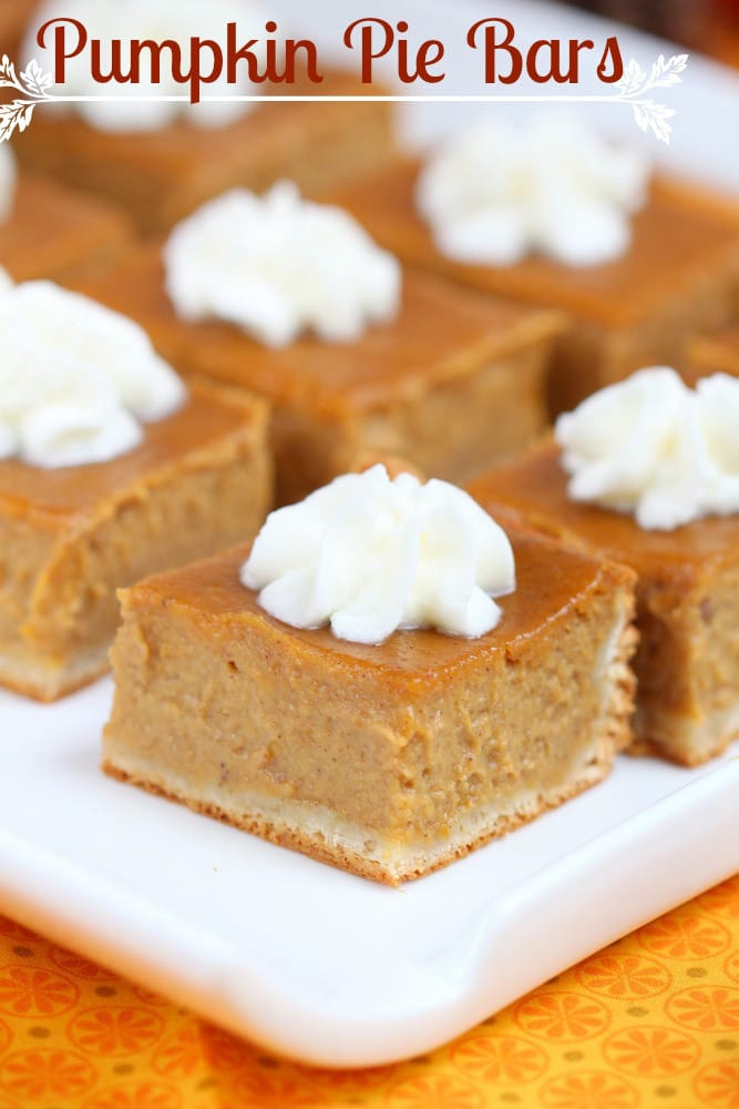 Pumpkin Pie Bars {Roxana's Home Baking}