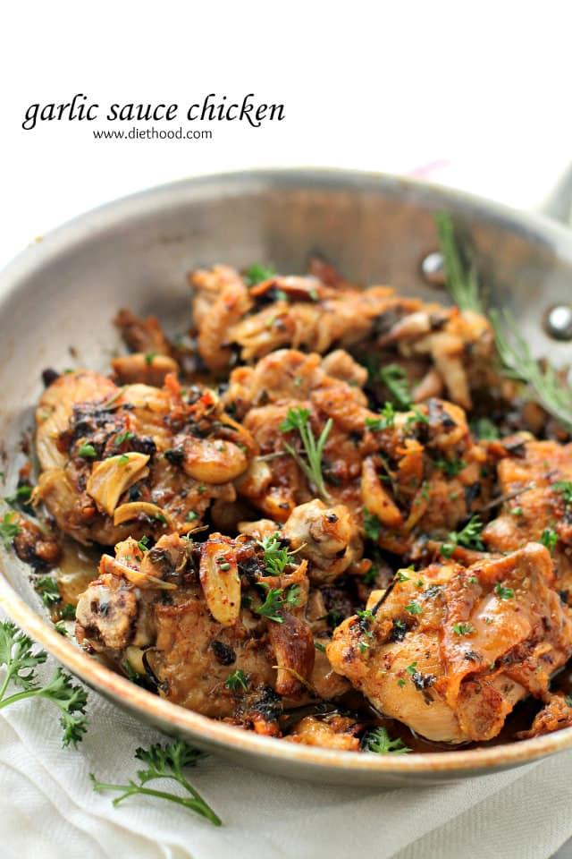 Garlic Sauce Chicken {Diethood}