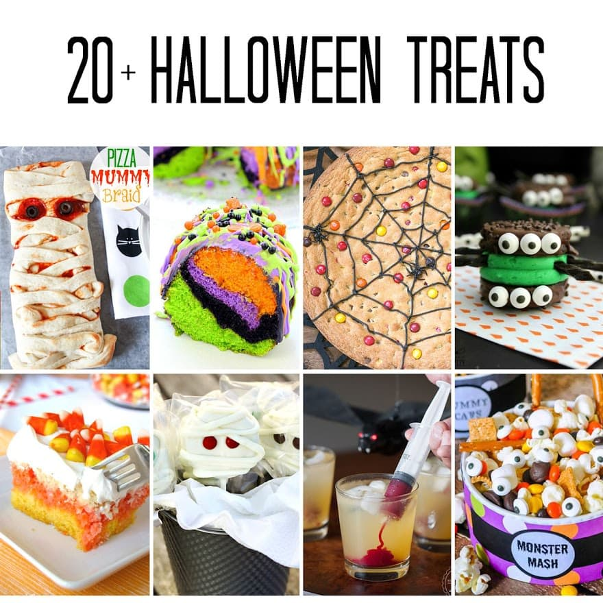 20+ Fun Halloween Recipes - a great round up of over 20 fun Halloween recipes to get you started for the holiday!