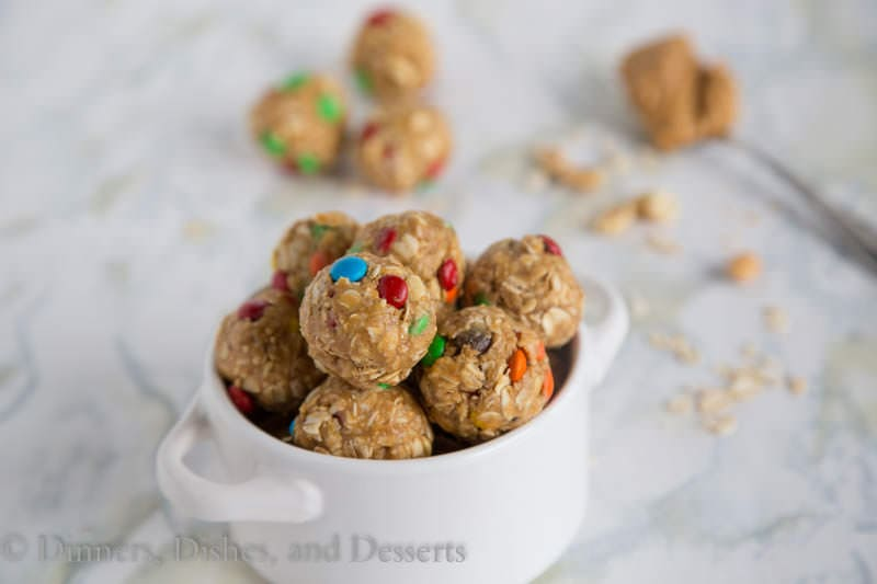 No Bake Energy Bites - Simple, healthy little balls of peanut buttery, oaty goodness. Just a little bite for when you need a quick and easy snack.