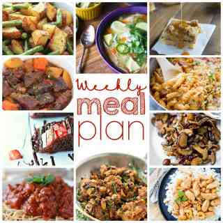 Weekly Meal Plan Week 11 - 10 great bloggers bringing you a full week of recipes including dinner, sides dishes, and desserts!