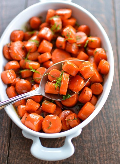 Bourbon Maple Glazed Carrots