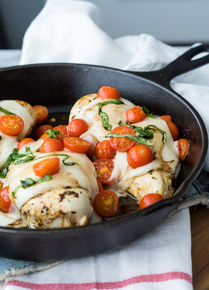 Chicken Caprese Skillet {I Wash...You Dry}