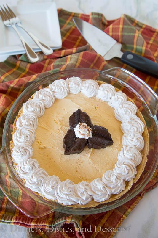 Pumpkin Ice Cream Pie - change up your pumpkin pie this year and serve a pumpkin ice cream flavored pie!