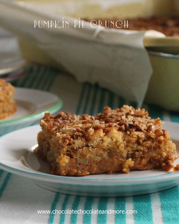 Pumpkin Pie Crunch {Chocolate, Chocolate, and More}