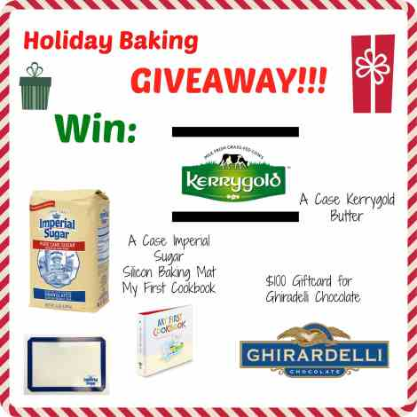 Get your holiday baking started out right!! Win sugar, butter, baking supplies and chocolate!