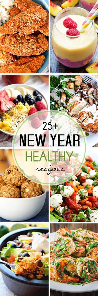25+ Healthy Recipes for the New Year - over 30 healthy recipes to get you started on the right foot this new year!
