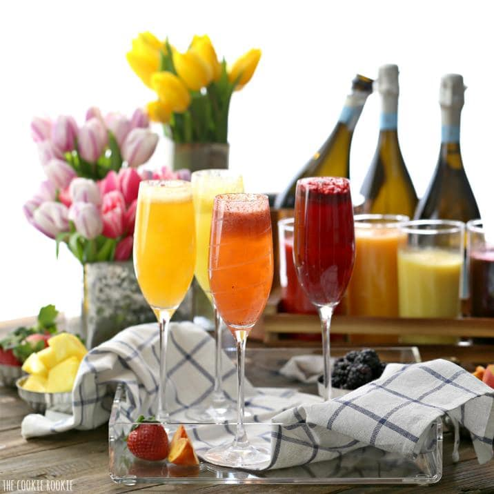Homemade Bellini Bar {The Cookie Rookie}