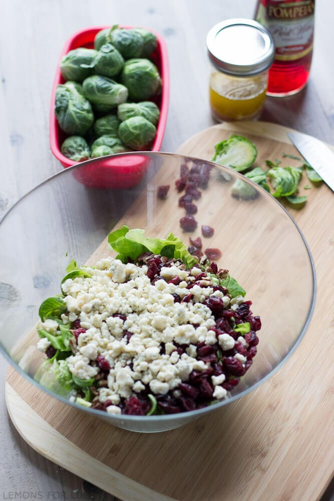 Brussels Sprouts Salad {Lemons for Lulu}