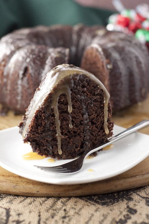 Hot Chocolate Coffee Rum Cake {Wishes and Dishes}