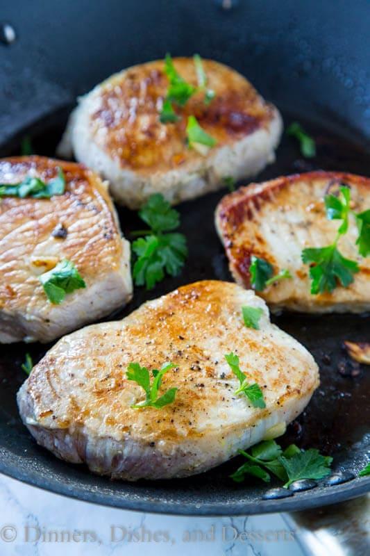 Lemon Garlic Pork Chops   Oven Baked Pork Chops Recipes   Homemade Recipes