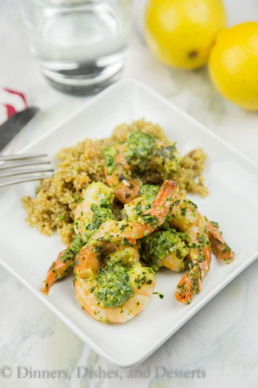 Herb Pan Seared Shrimp - quick and easy sauteed shrimp in a herb and citrus marinade. Ready in minutes, and the whole family will love it!