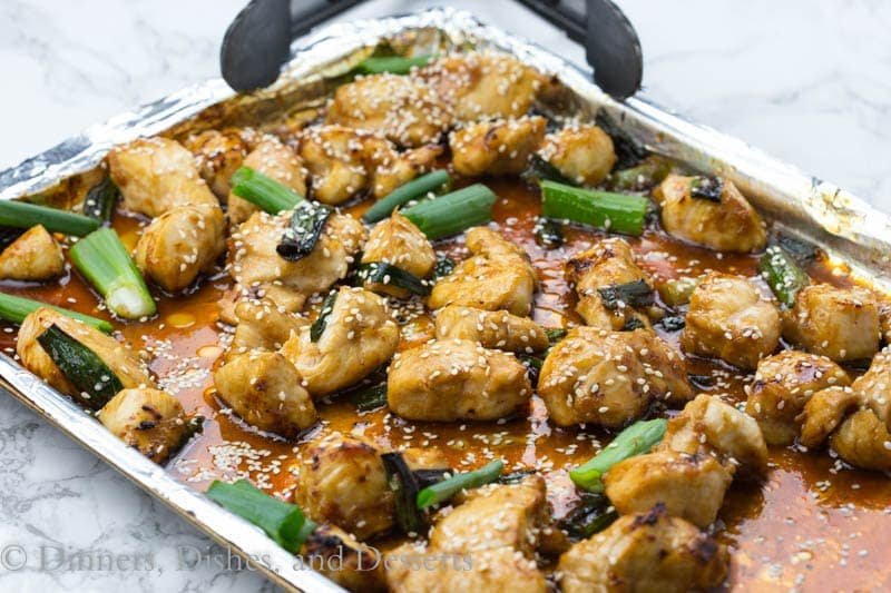 Chicken Yakitori - super fast chicken dinner recipe with lots of Asian flavors. On the table in minutes! Great over rice or even as chicken skewers.