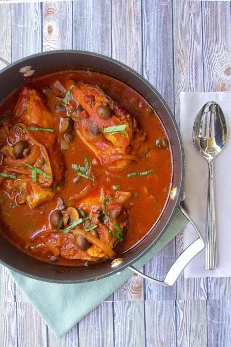 Slow Cooker Chicken Cacciatore {Culinary Ginger}
