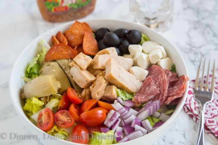 Grilled Chicken Antipasto Salad