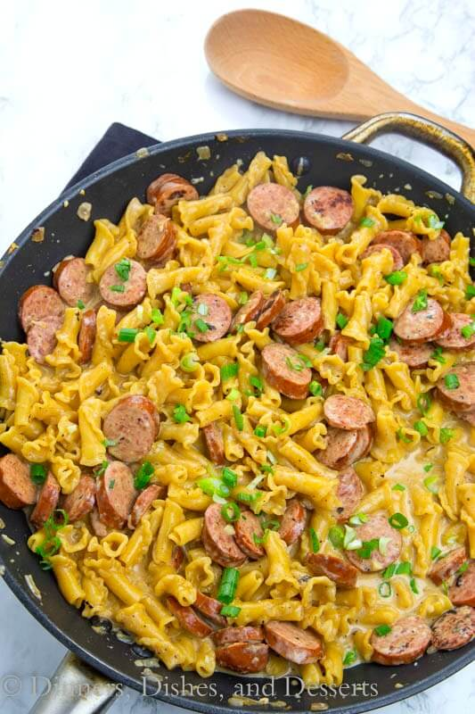 One Pot Cajun Pasta is a great way to spice up your weeknights! One pan, 25 minutes, and you have dinner on the table!