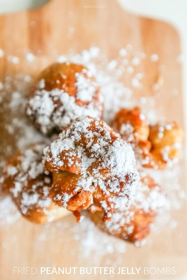 Fried Peanut Butter and Jelly Bombs {Sweet C's Designs}