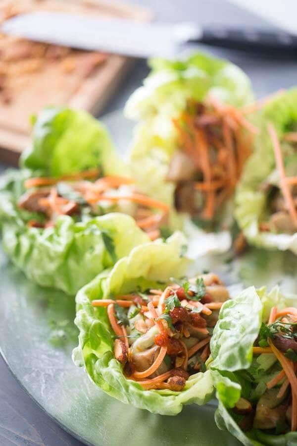Easy Chicken Lettuce Wraps {Lemons for Lulu}