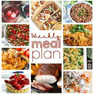 Weekly Meal Plan Week 38 - 10 great bloggers bringing you a full week of recipes including dinner, sides dishes, and desserts!