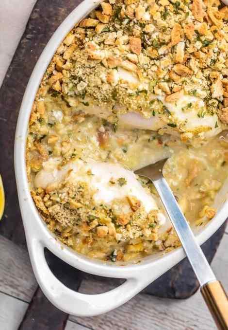 Creamy Swiss Chicken Bake {The Cookie Rookie}