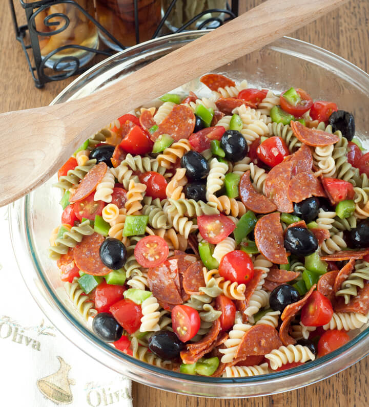 Classic Italian Pasta Salad {Wishes and Dishes}