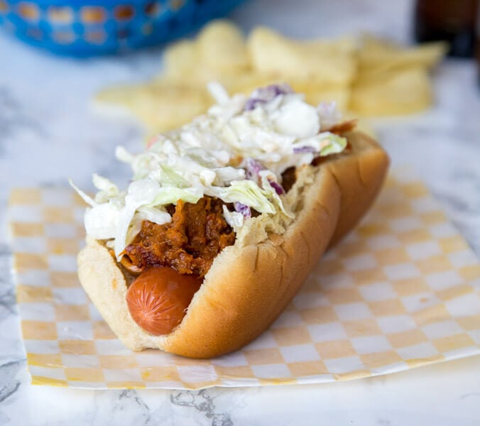 Barbecue Pulled Pork Hot Dog