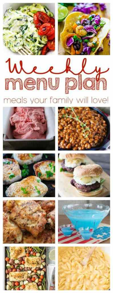 Weekly Meal Plan Week 47 - 10 great bloggers bringing you a full week of recipes including dinner, sides dishes, and desserts!