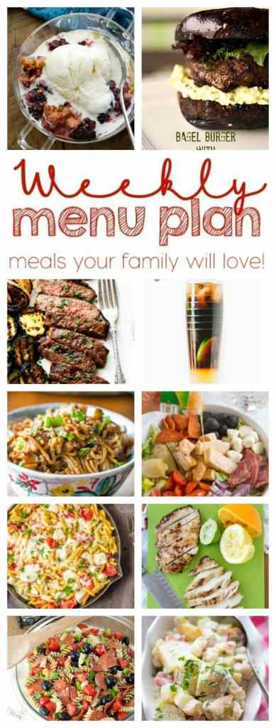 Weekly Meal Plan Week 49 - 10 great bloggers bringing you a full week of recipes including dinner, sides dishes, and desserts!