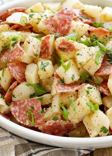 Italian Potato Salad {Barefeet in the Kitchen}