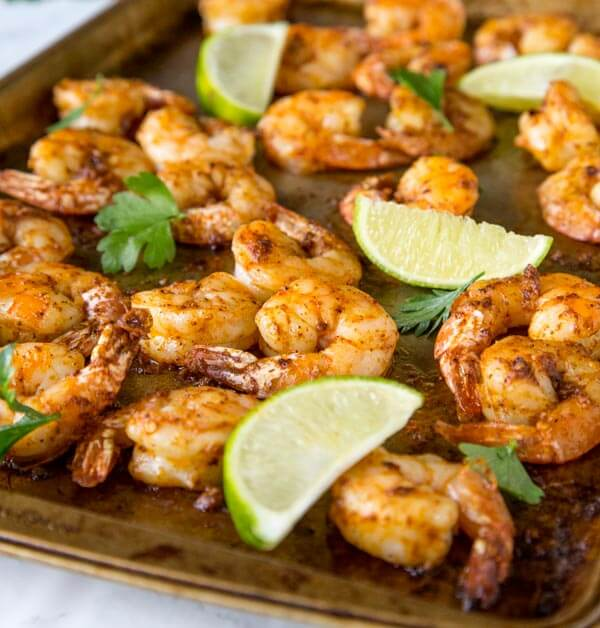One Pan Spicy Garlic Shrimp