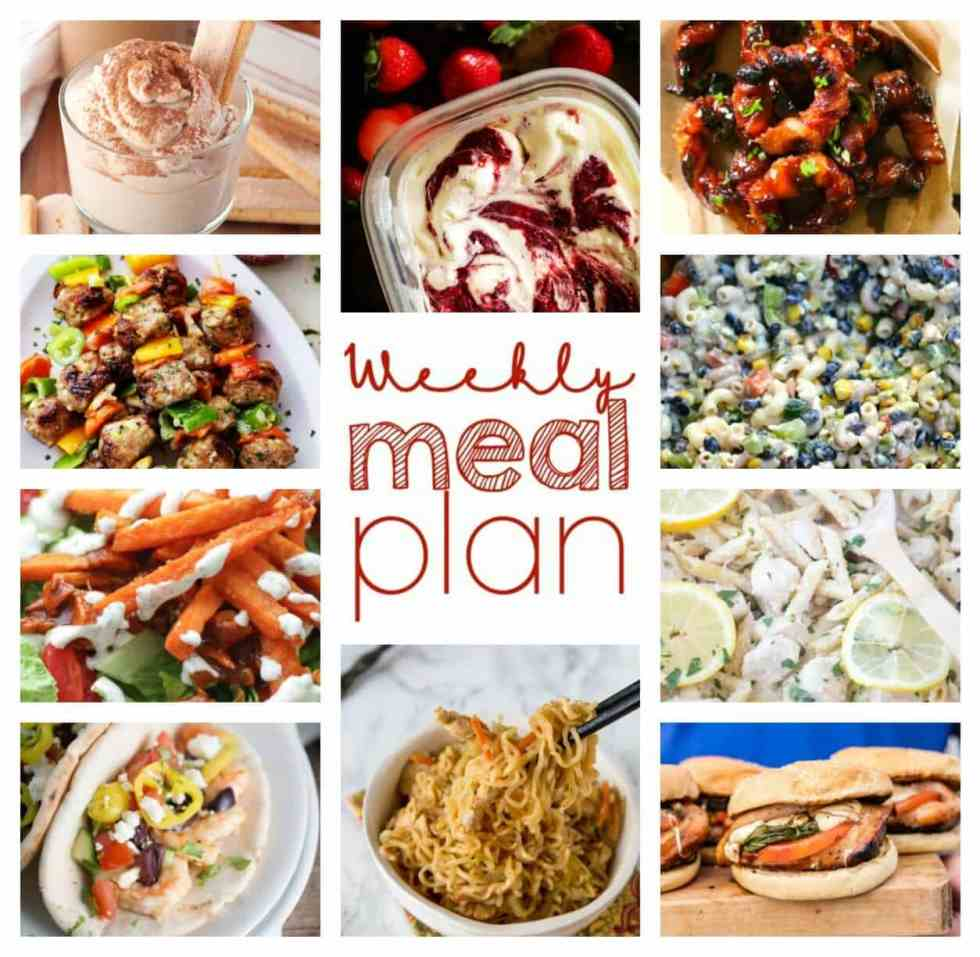 Weekly Meal Plan Week 57 – 10 great bloggers bringing you a full week of recipes including dinner, sides dishes, and desserts!